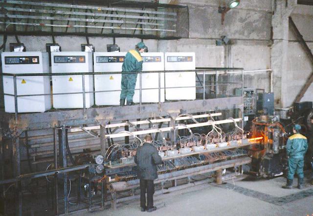 На ЗАО «Кузбасстрансмет» запущена в эксплуатацию линия по изготовлению ж/д костыля.