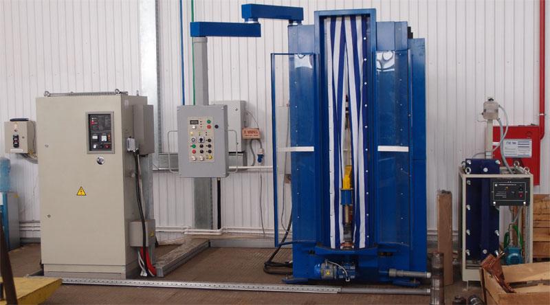 Индукционная закалочная установка ПЕТРА-0501 с закалочным станком УВП-1500