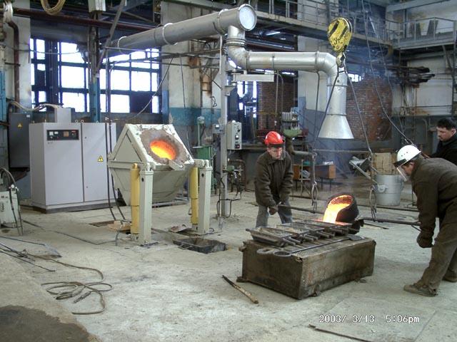 На ОАО «КТИАМ» запущена индукционная электропечь ИСТ-0,4.