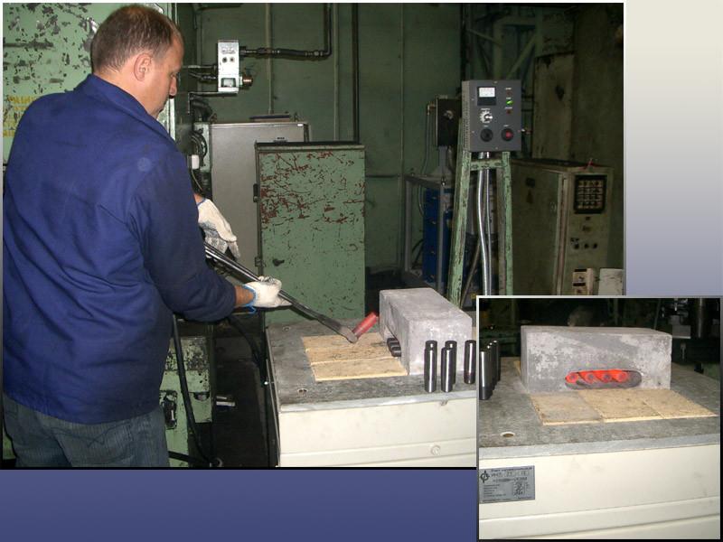 Внедрена установка ПЕТРА-ИН для нагрева концов заготовок перед штамповкой.