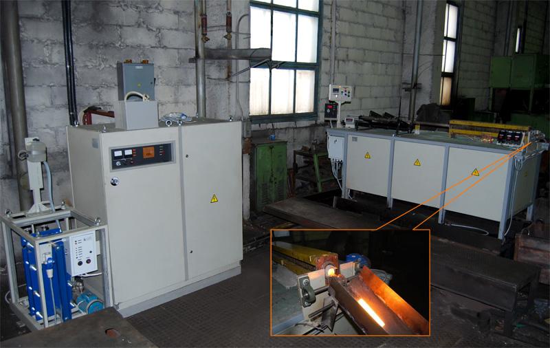 Введена в эксплуатацию установка для нагрева мерных заготовок.