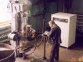 Запущена индукционная нагревательная установка ПЕТРА-0501 для закалки валов.