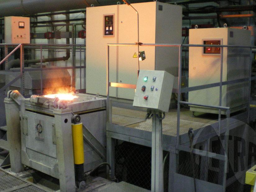 Индукционная плавильная установка ИСТ-0,4
