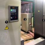 1 - Преобразователь частоты; 2 - Конденсаторная батарея; 3 - Теплообменная стнация.