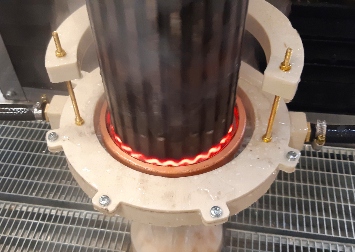 Универсальная автоматизированная установка ТВЧ-закалки 160 кВт 44 кГц