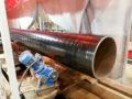 Индукционная установка для нагрева труб под покрытие
