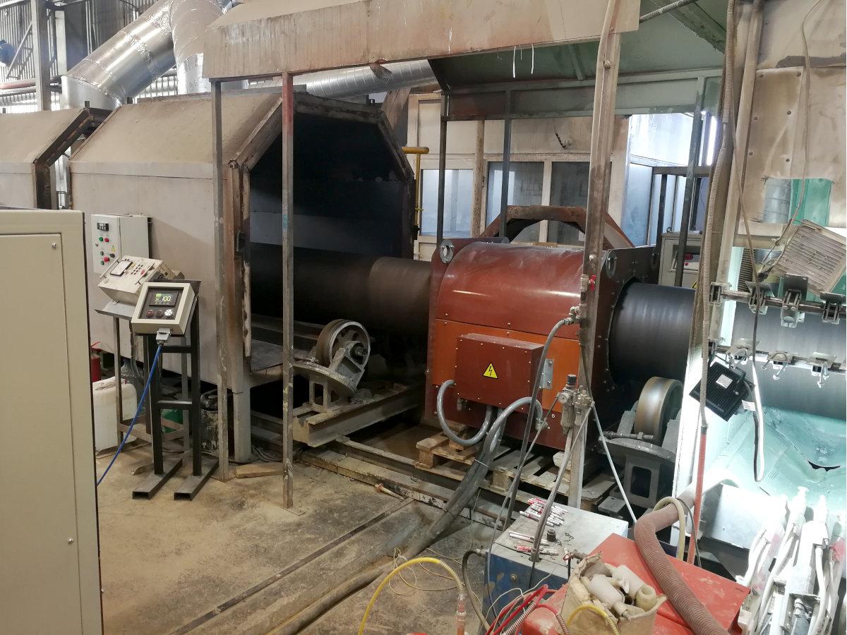 Индукционная установка для нагрева труб под покрытие 630 кВт