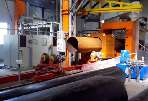 установка индукционного нагрева трубы