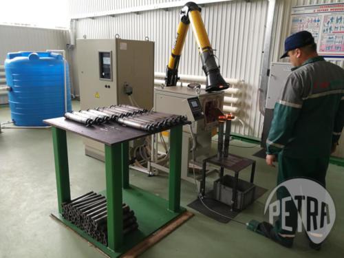 Индукционная установка для пайки пакетов роторов